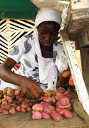Kola nut seller - At