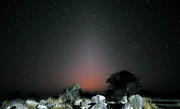 Zodiacal light seen