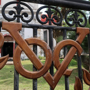 VOC logo at the gate