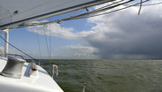 Sailing 50 km from A